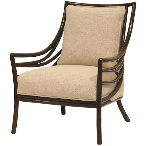Palecek Accent Chairs by Palecek Transitional Crescent Lounge Chair
