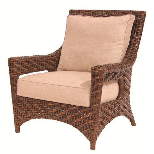 Palecek Accent Chairs by Palecek Transitionally Styled Rattan Lounge Chair