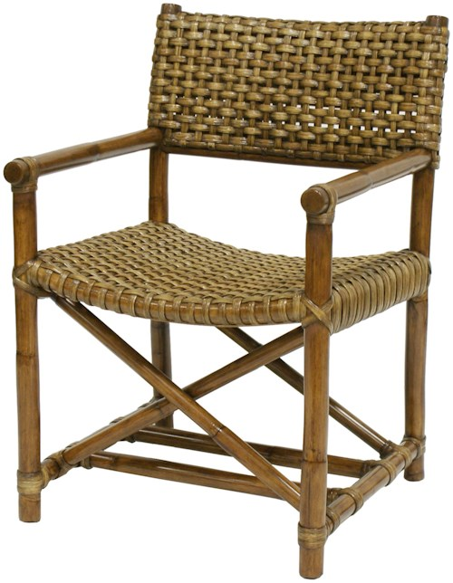 Palecek Accent Chairs by Palecek Woven Rattan Side Chair