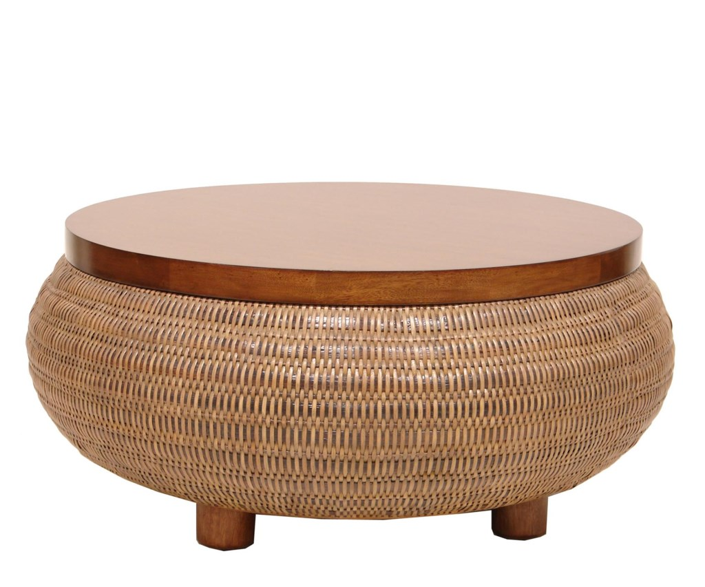 palecek occasional tables split-tone woven coffee table - baer's