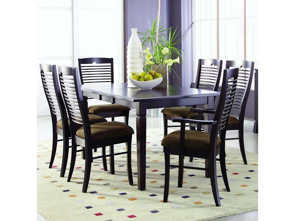 Palettes by Winesburg RomeoCustomizable 7 Pc. Table Set