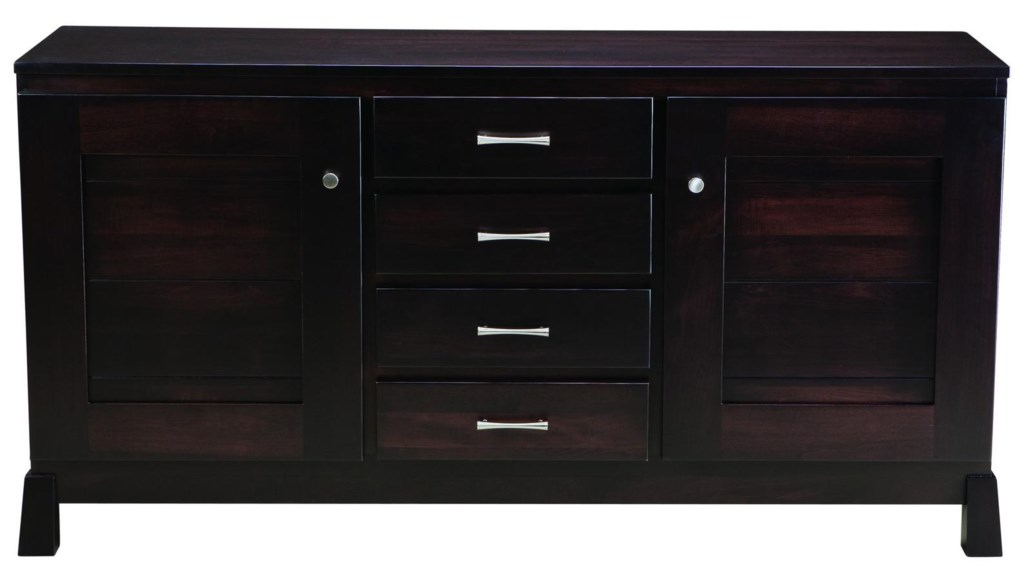 Palettes By Winesburg Romeo Uptown Buffet With Dining Storage  # Buffet Palette