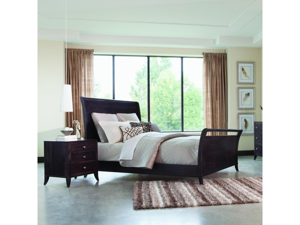 Palettes by Winesburg Adrienne PWKing Sleigh Bed