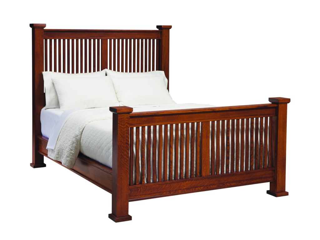 Palettes By Winesburg American Craftsman 09513 QSO Queen Mission Bed