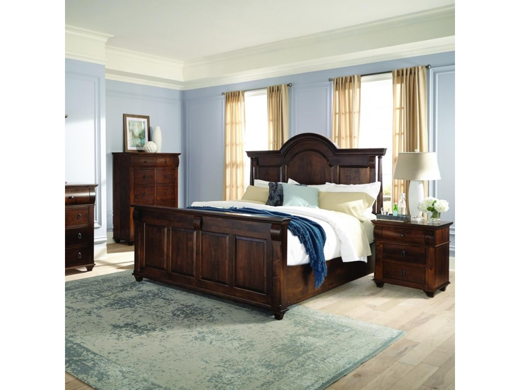 Palettes by Winesburg Bartletts IslandQueen Arched Panel Bed