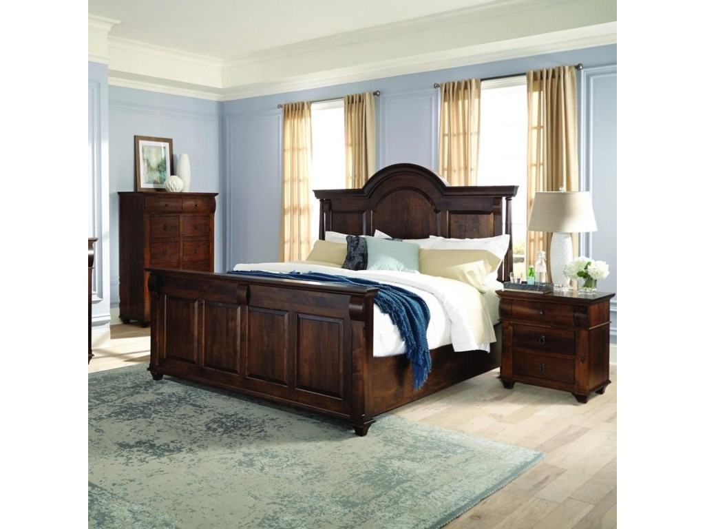 Palettes by Winesburg Bartletts IslandKing Arched Panel Bed