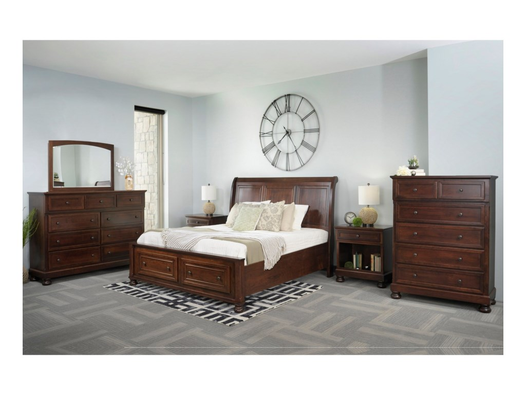 Palettes by Winesburg BrigantineQueen Bedroom Group