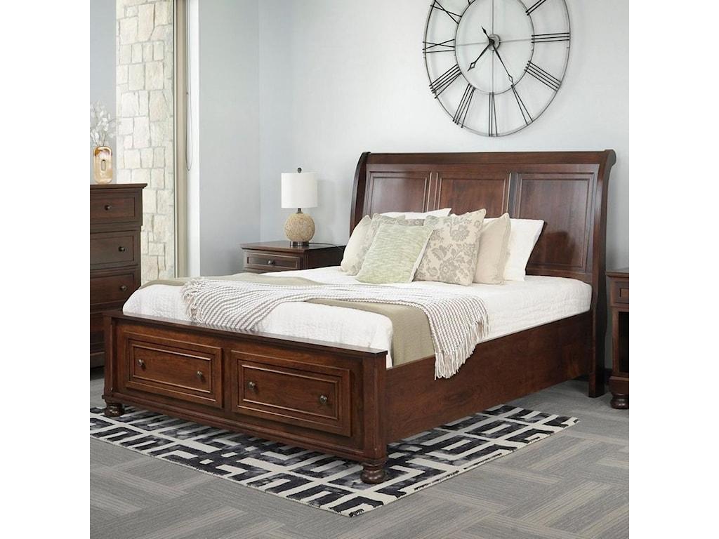 Palettes by Winesburg BrigantineQueen Sleigh Bed