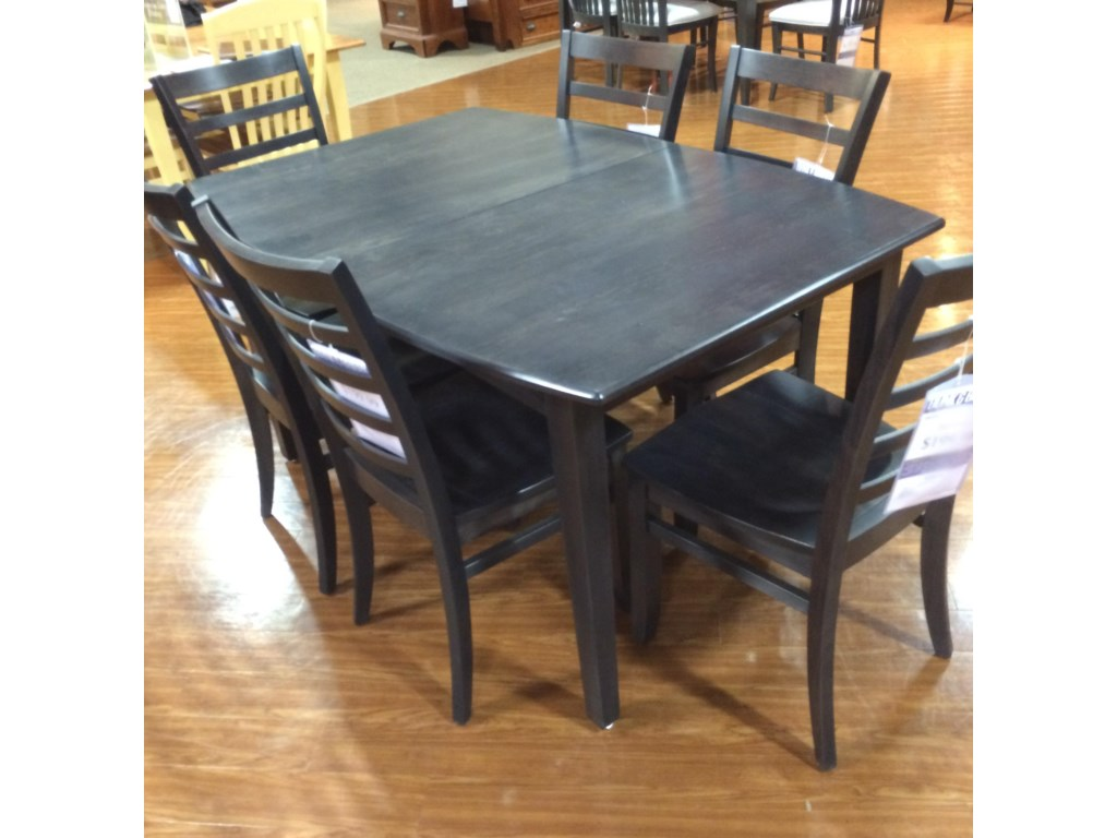 Palettes by winesburg charcoal lite4058g1 m custom boat table dunk bright furniture dining room table