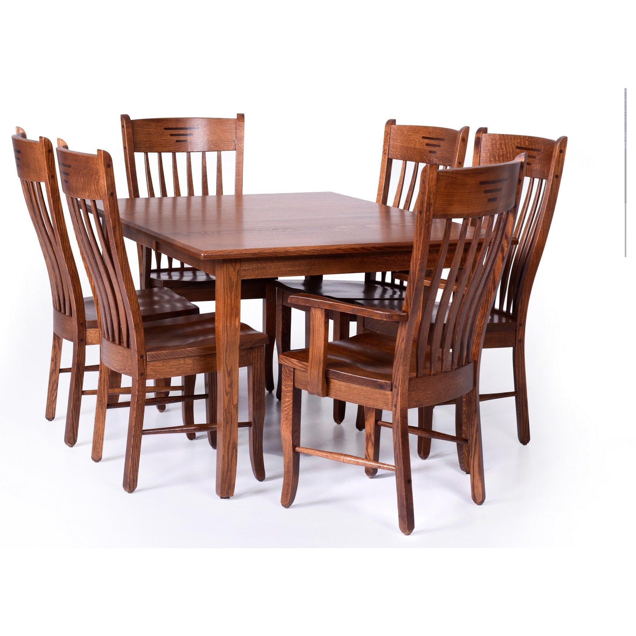Palettes By Winesburg Classic Shaker Customizable 7 Piece Dining Set