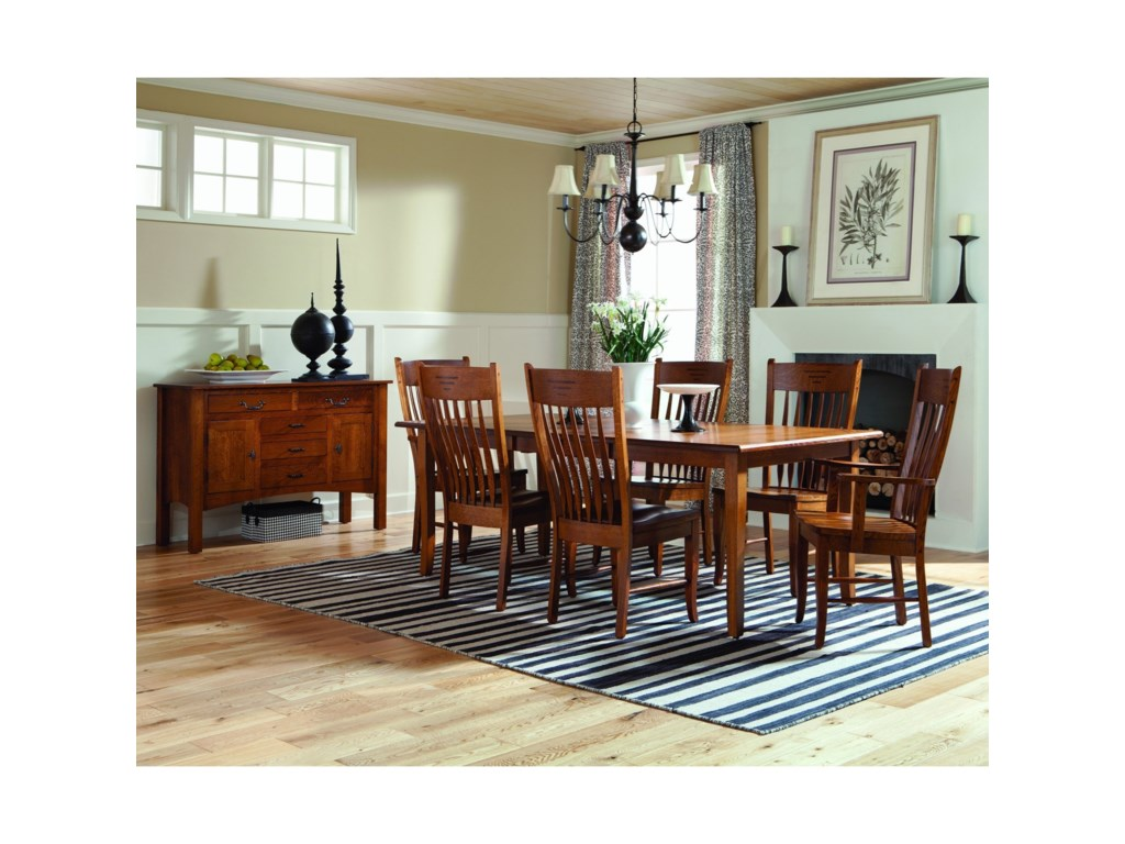 Palettes by Winesburg Classic ShakerCustomizable 7 Piece Dining Set