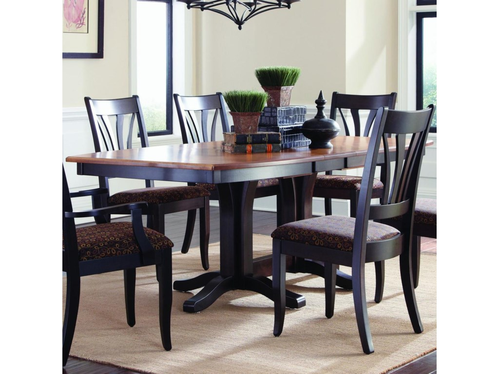 Palettes Hartford Customizable Double Pedestal Table