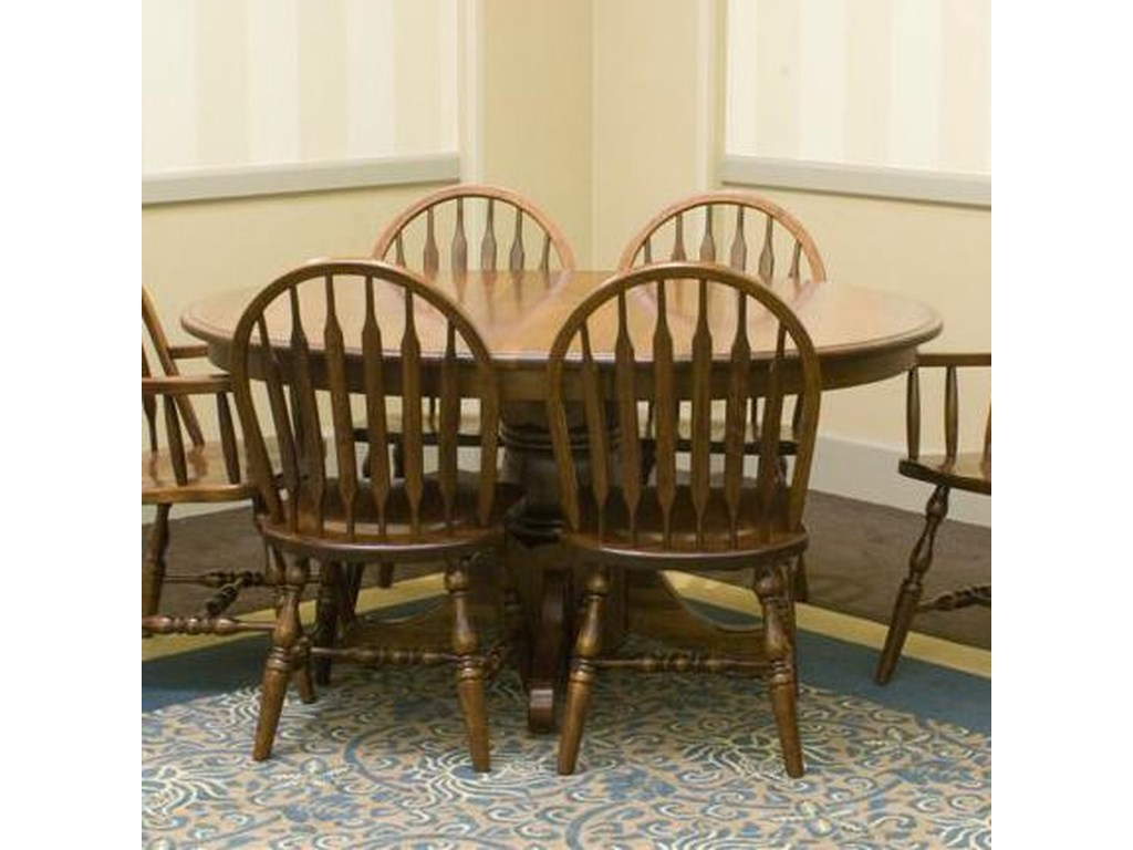 Palettes by Winesburg Jr. Bowback GroupCustomizable Oval Table