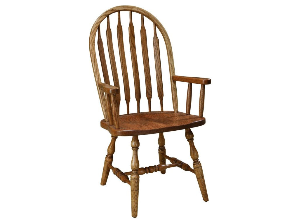 Palettes by Winesburg Jr. Bowback GroupCustomizable Arm Chair