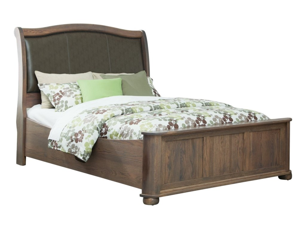 Palettes by Winesburg KingsportQueen Upholstered Sleigh Bed