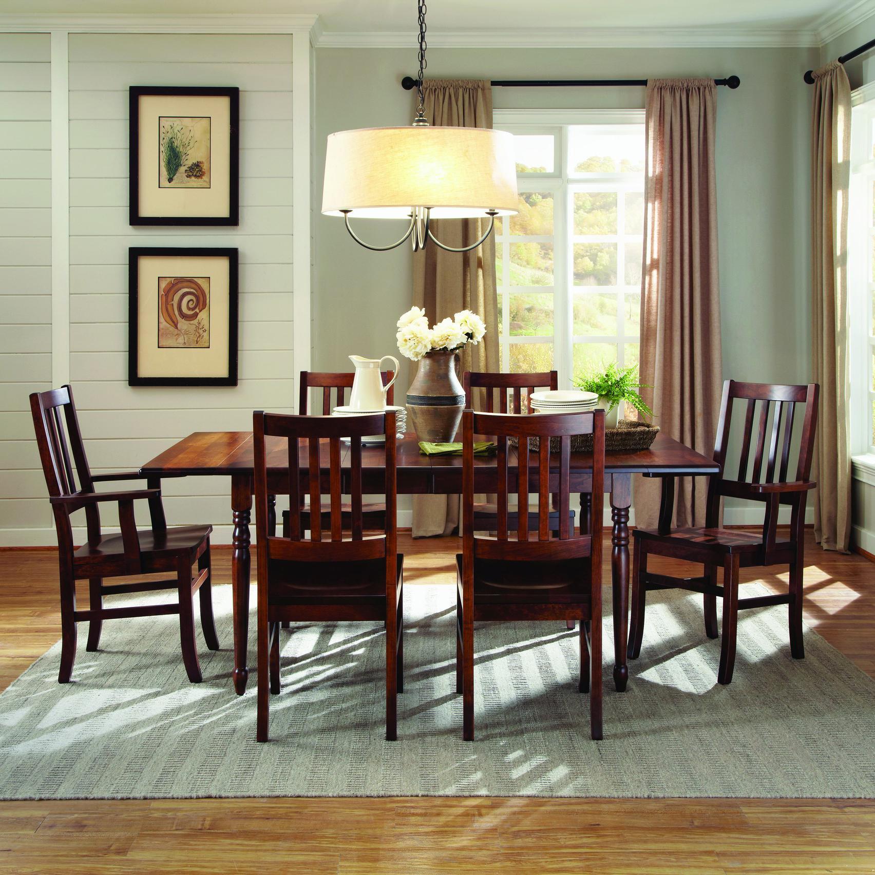 Customizable 7 Pc. Drop Leaf Table & Chair Set