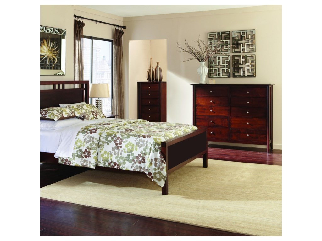 Palettes by Winesburg Lindsey PWKing Gridwork Bed