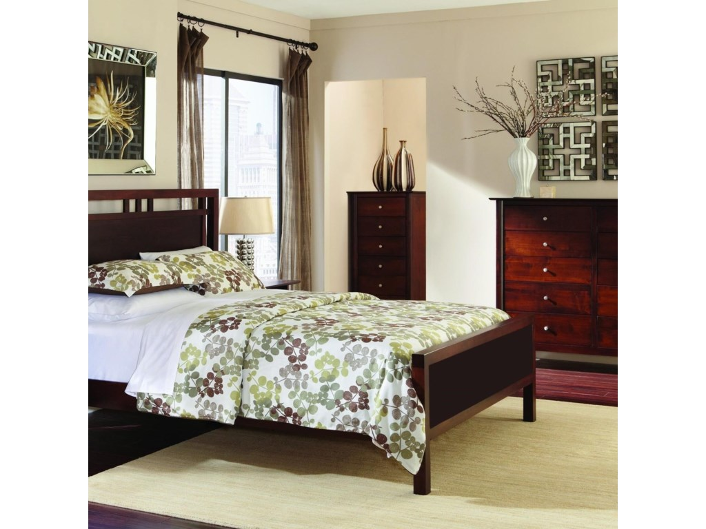 Palettes by Winesburg Lindsey PWQueen Gridwork Bed