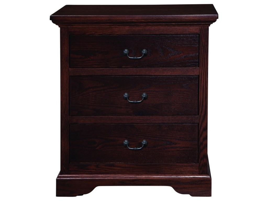Palettes by Winesburg Longmeadowthree Drawer Night Stand