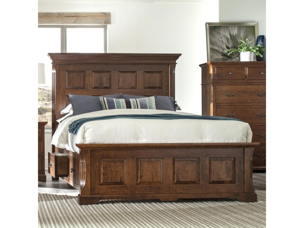 Palettes by Winesburg LongmeadowKing Size Panel Storage Bed