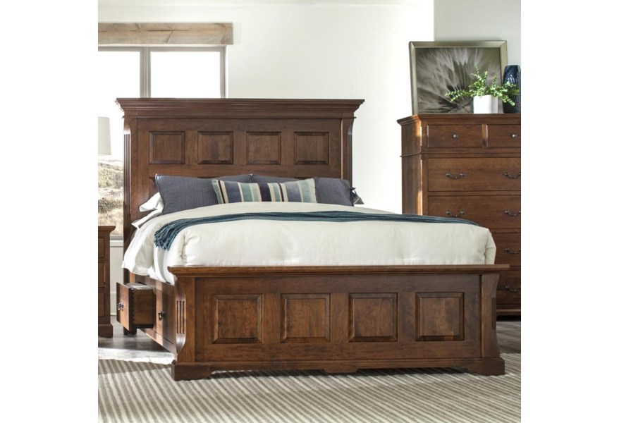 King Size Panel Bed With Footboard