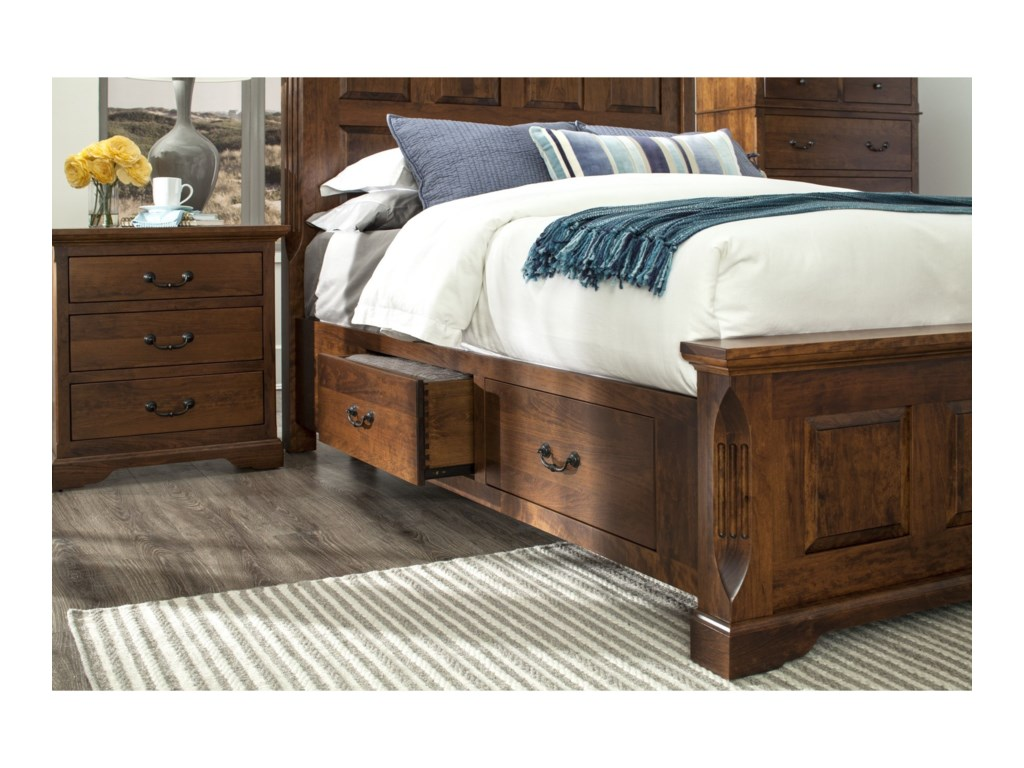 Palettes by Winesburg LongmeadowQueen Size Panel Storage Bed