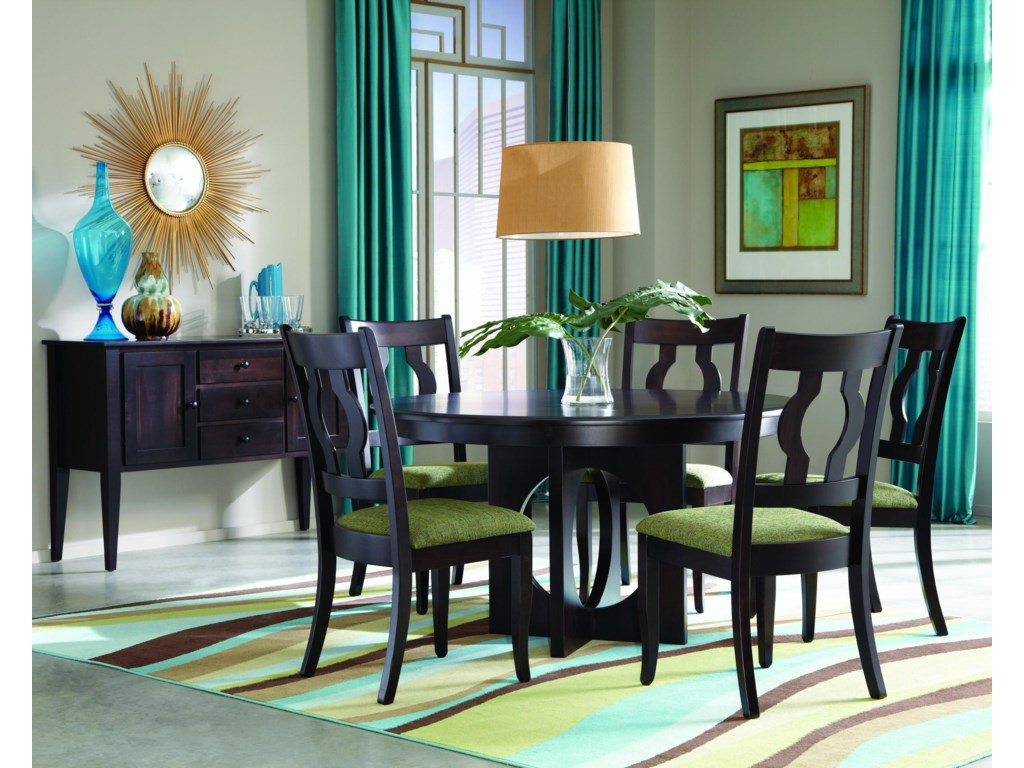Palettes by Winesburg Single MetroCustomizable Dining Table