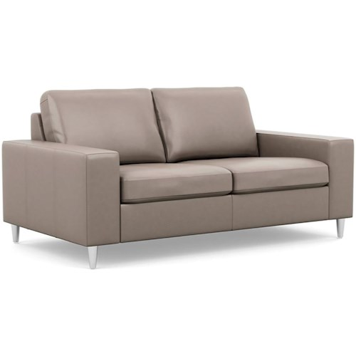Palliser Bello Contemporary Love Seat with Track Arms