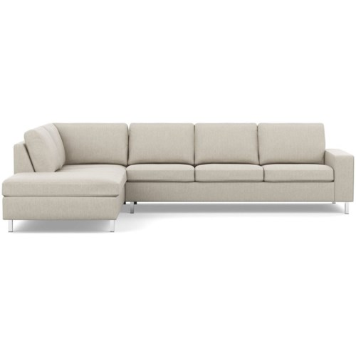 Palliser Bello Contemporary Sectional Sofa with Left Arm Facing Chaise