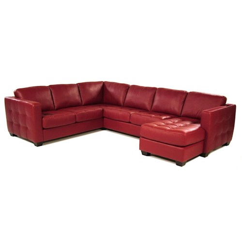 Palliser Tango Contemporary Sofa Sectional with Track Arm and Cushion Tufting