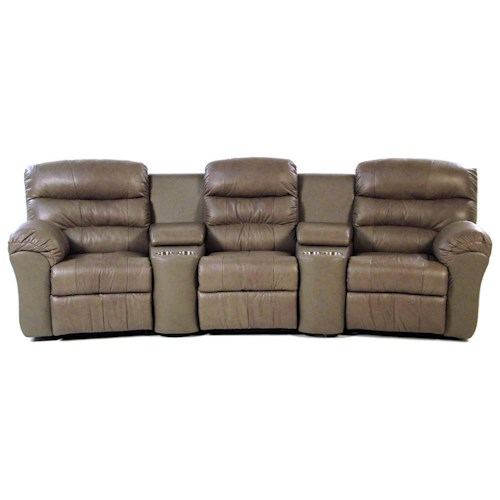 Palliser Hollywood 5-PC Curved Home Theater Seating