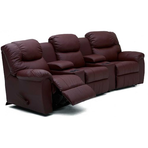 Palliser Regent Three Recliner Home Theater Sectional