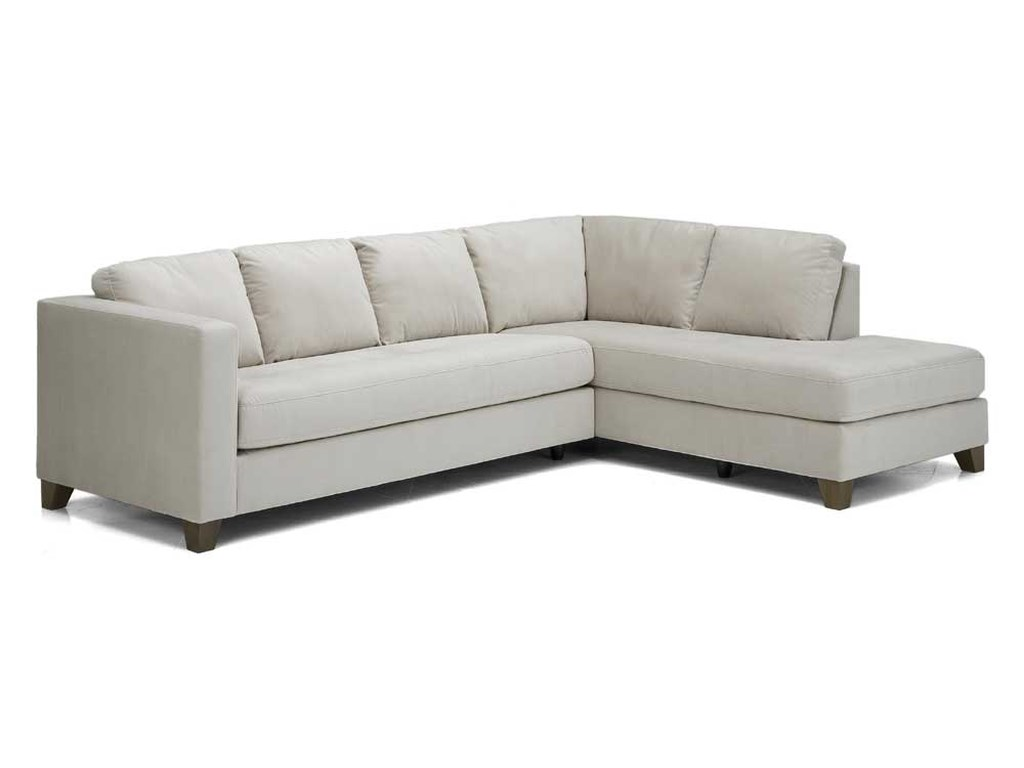 Palliser Jura Leather Upholstered Sectional Sofa | Dunk & Bright ...