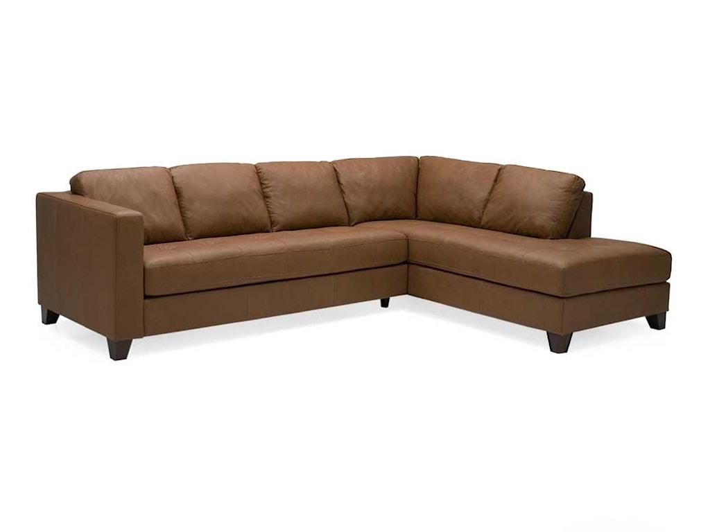 Palliser Jura Leather Upholstered Sectional Sofa Jordan S Home
