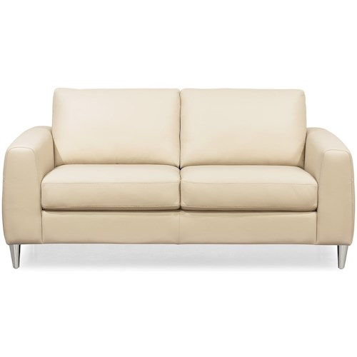 Palliser Atticus Contemporary Love Seat with Track Arms