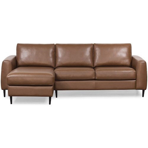 Palliser Atticus Contemporary Sectional Sofa with Left Arm Facing Chaise