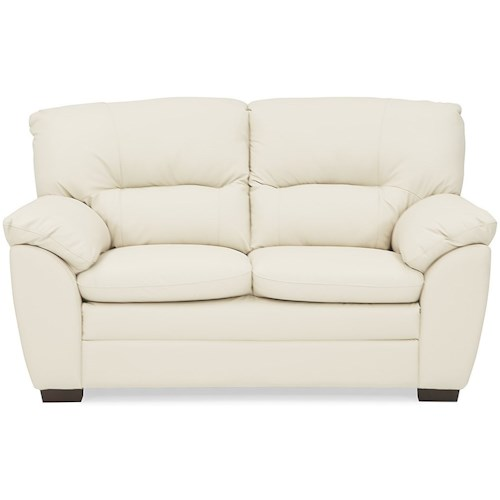 Palliser Amisk Casual Love Seat with Pillow Arms