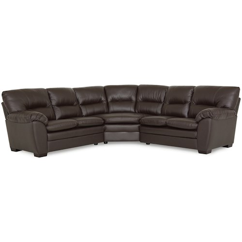 Palliser Amisk Casual 5 Seat Sectional with Pillow Arms