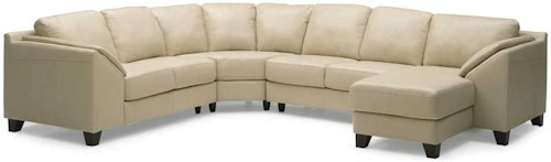 Palliser Cato Contemporary Upholstered Sectional Sofa with Chaise