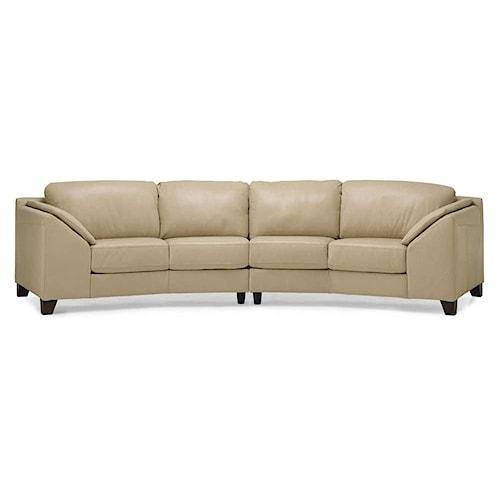 Palliser Cato Contemporary Upholstered Sectional Sofa