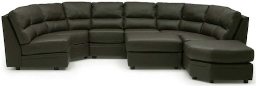 Palliser Cypress Contemporary Sectional Sofa with Two Ottomans