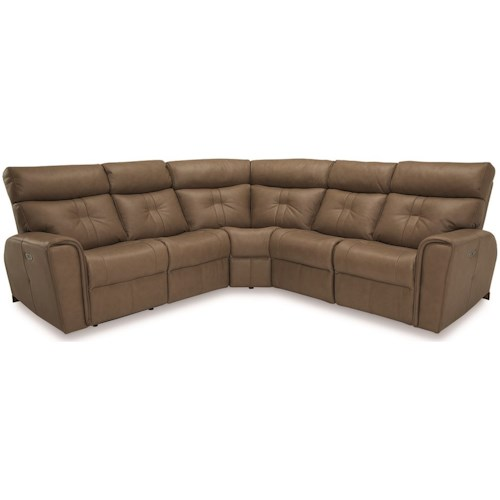 Palliser Acacia Contemporary Corner Sectional Power Recliner with Power Headrests