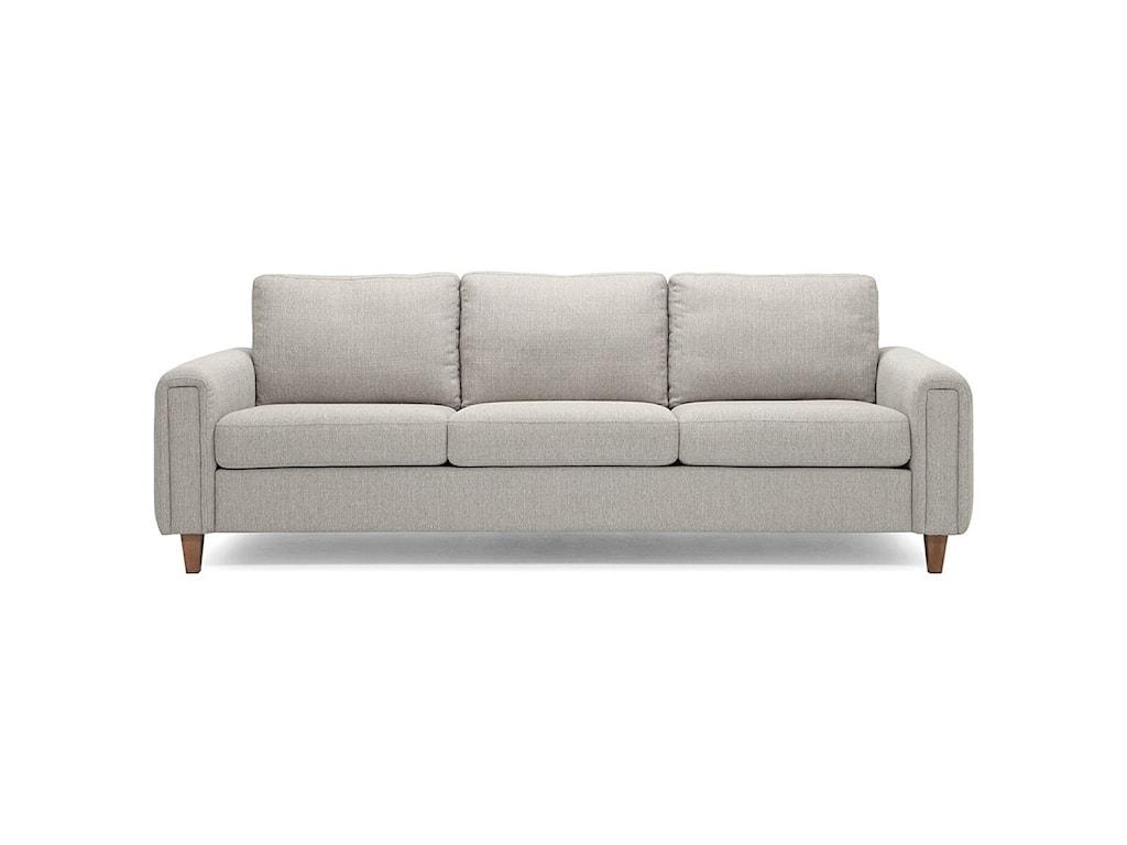 Palliser Inspirations - Alma High Leg Contemporary Sofa with ...