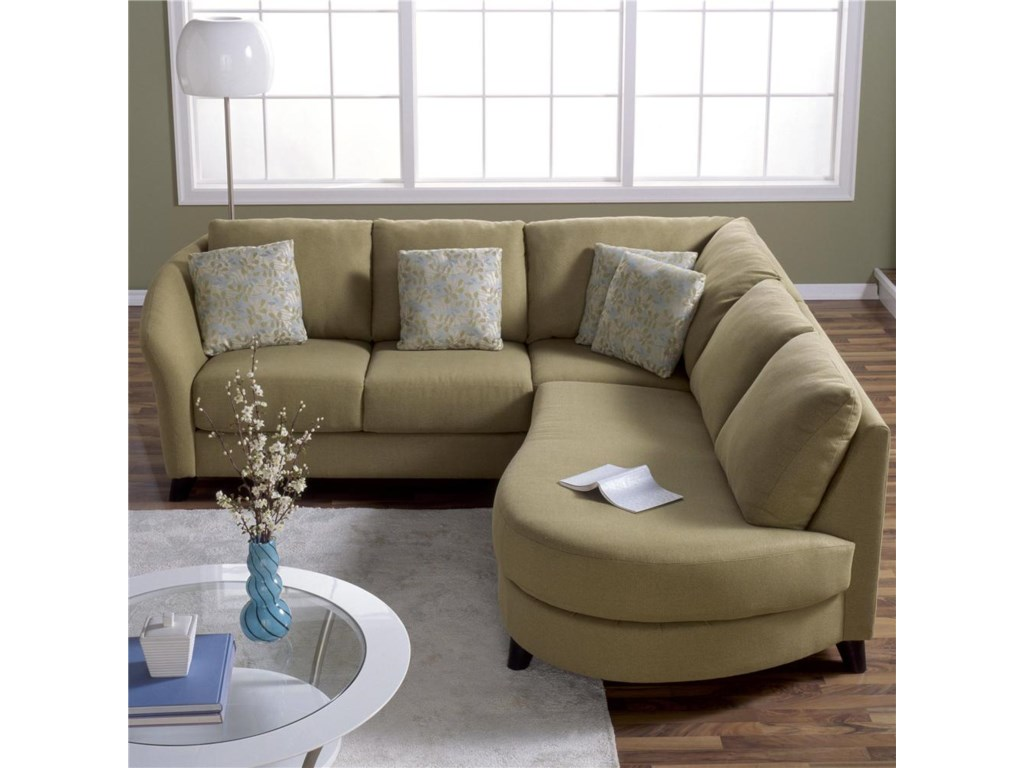 Palliser Alula 77427 Sectional Sofa with Love Seat and Chaise ...
