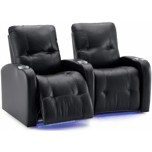 palliser auxiliary transitional 2 person power theater seating with
