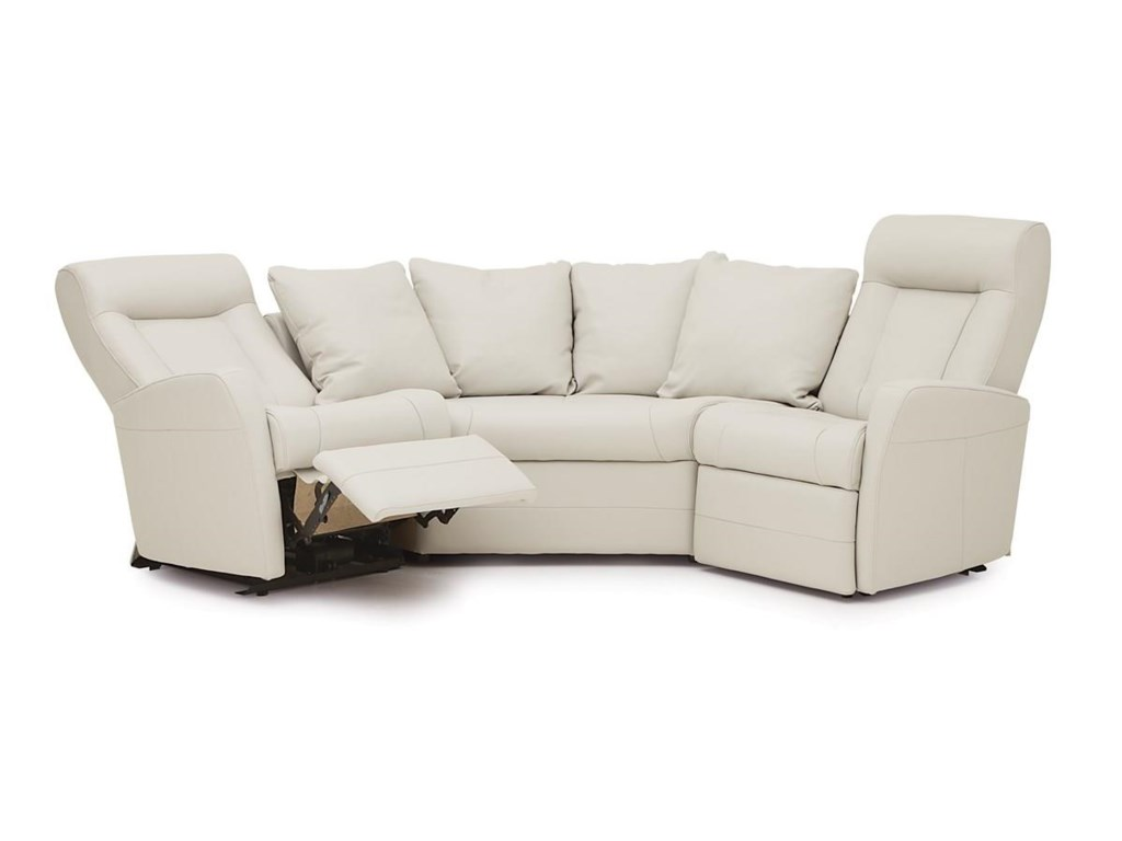 Palliser Banff II Contemporary Reclining Sectional Sofa ...