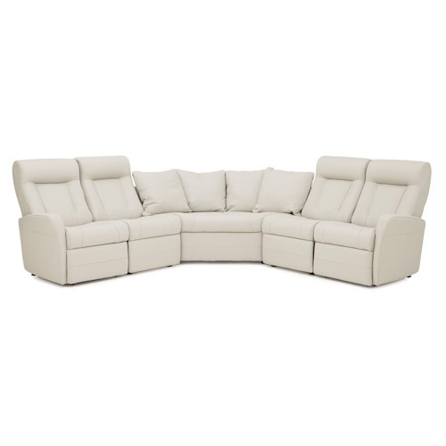Palliser Banff II Contemporary Reclining Sectional Sofa