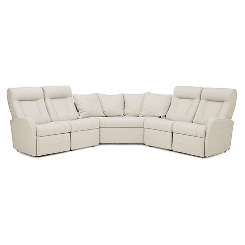 Palliser Banff II Contemporary Reclining Sectional Sofa