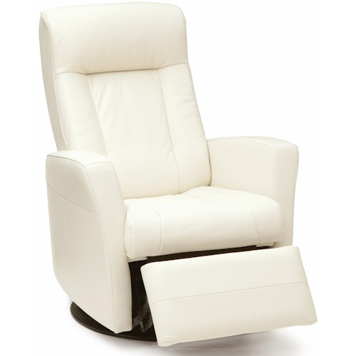 Palliser Banff Swivel Glider Recliner with Defined Headrest and Track Arms