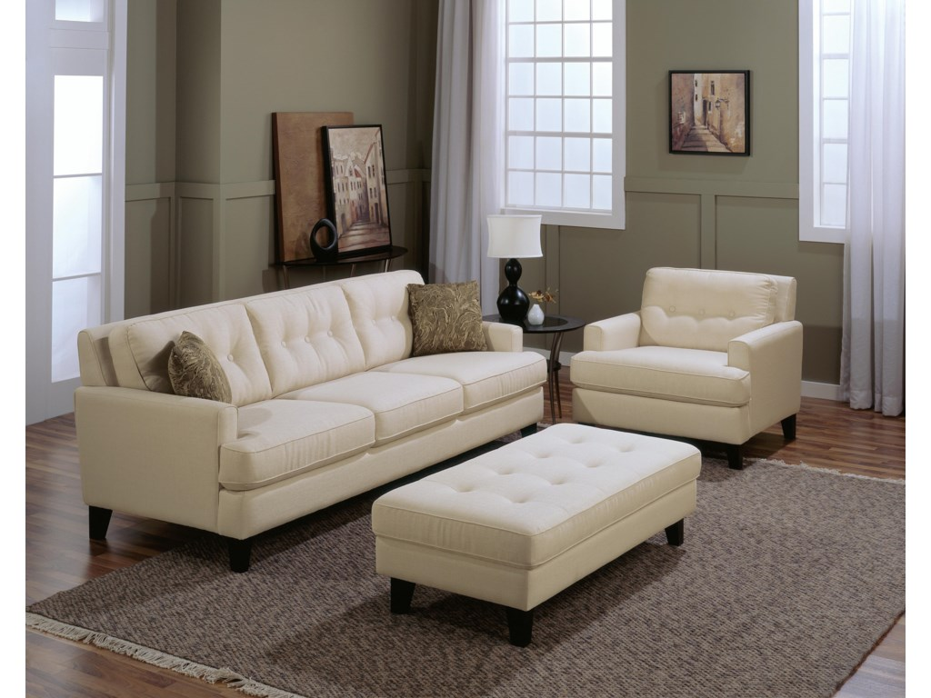 Shown with Sofa and Ottoman